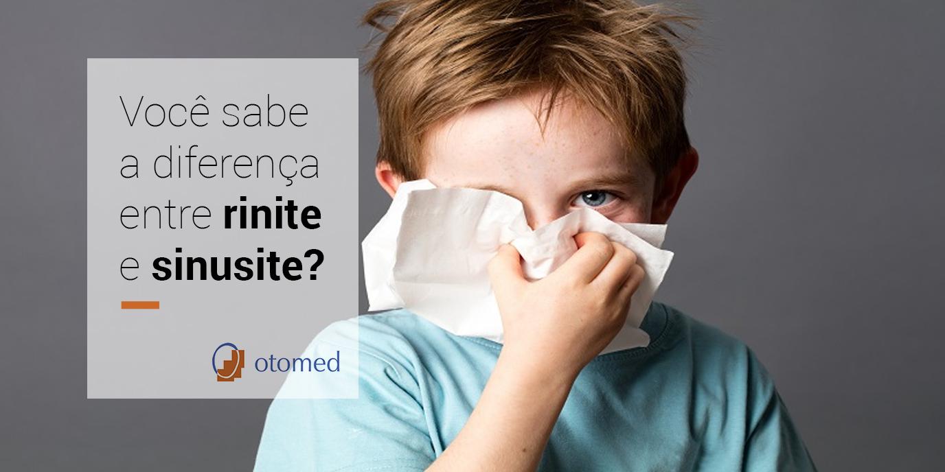 Você sabe a diferença entre rinite e sinusite?